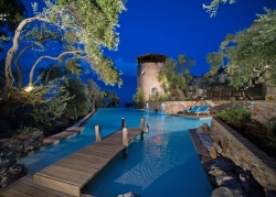 Private pool and tower in Corfu villa