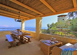 Sea views from villa terrace in Corfu