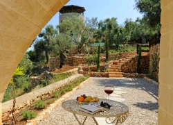 Terrace from lower bedroom in Corfu villa