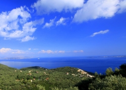 Sea views from the villa, Corfu
