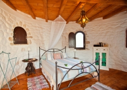 Tower bedroom at Villa Del Cielo Corfu